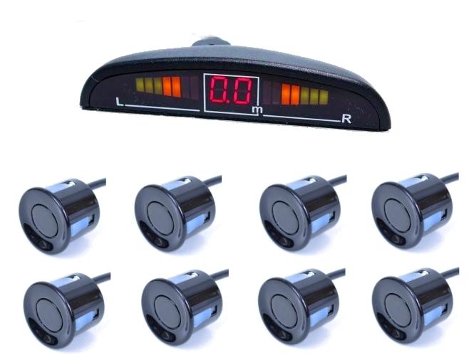 einparkhilfe r ckfahrwarner pdc 8 sensoren vorne und hinten f r mercedes benz ml ebay. Black Bedroom Furniture Sets. Home Design Ideas