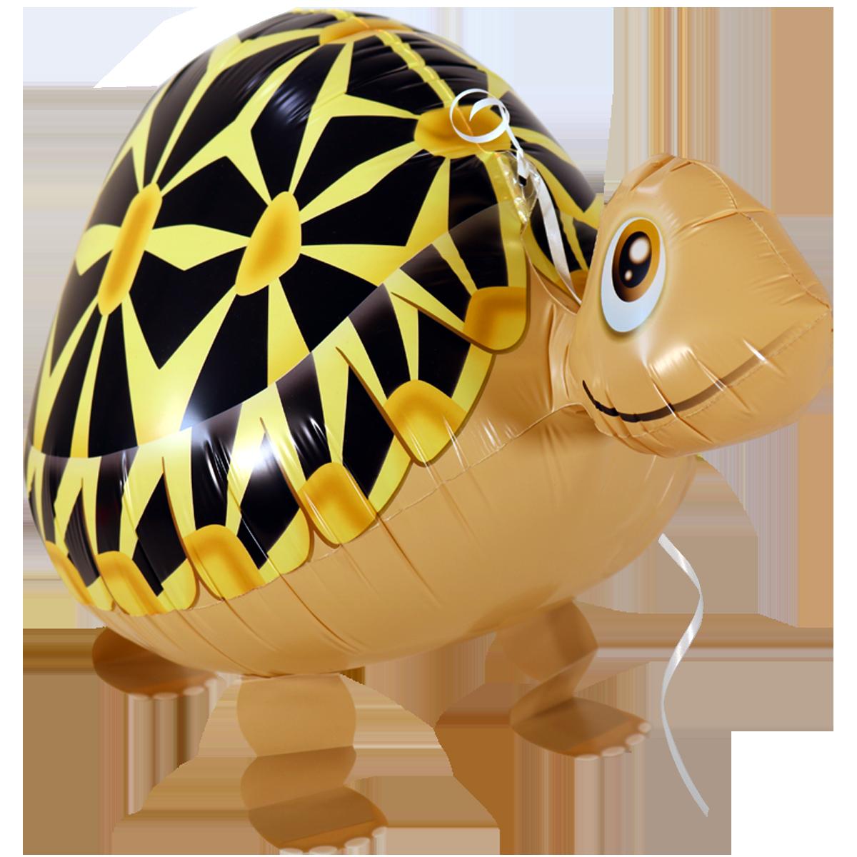 10x Folienballon Schildkröte Tier Laufend Heliumballon Kindergeburtstag
